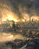 The Great Fire of London, 1666. Links to 'Buy a year of London's history' page